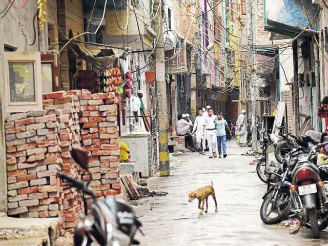 The lane in Chand Bagh area of Bhajanpura in northeast Delhi where Sajid, the alleged kingpin of the Jaish module, lived. The group used to hold meetings at Sajid's house, say police.