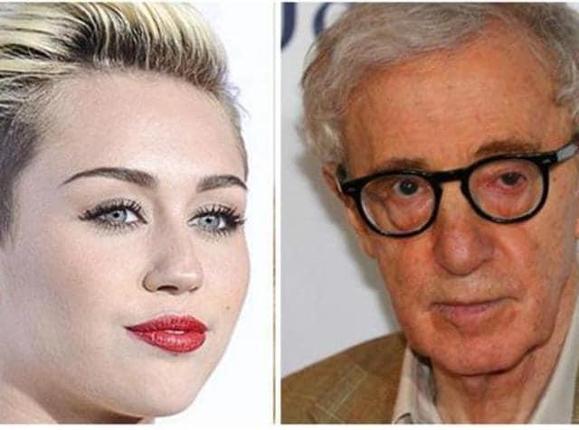 Woody Allen,Miley Cyrus,Woody Allen Miley Cyrus