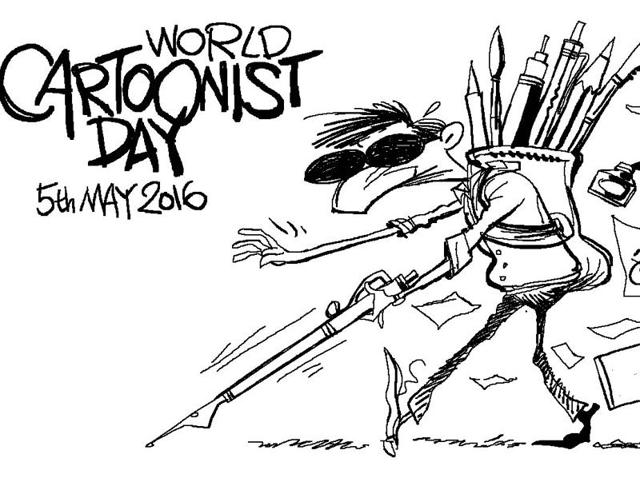 May 5 is celebrated as the World Cartoonist Day.