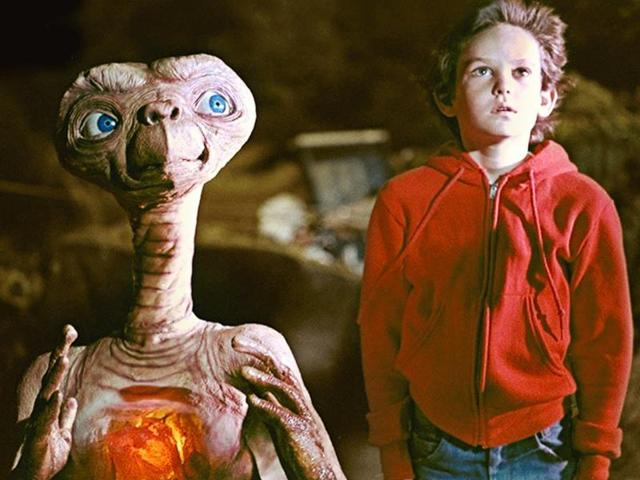 A still from ET the Extra Terrestrial.