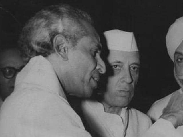 VK Krishna Menon with India's first prime minister Jawaharlal Nehru