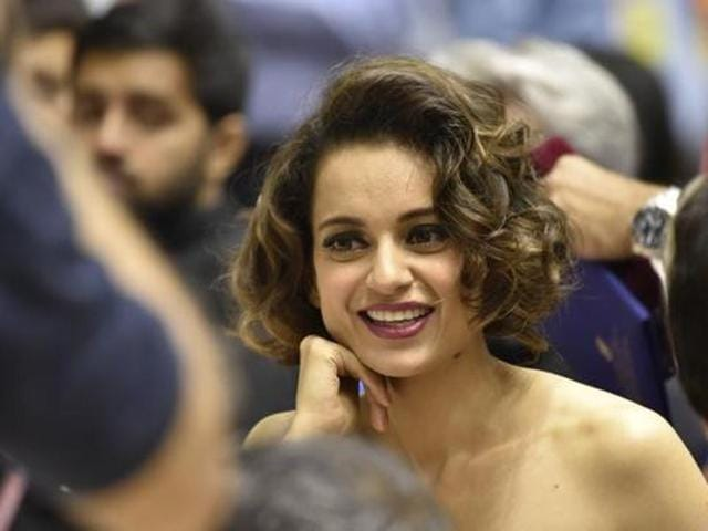 Kangana Ranaut received the National Award for Best Actress in New Delhi. (HT Photo)