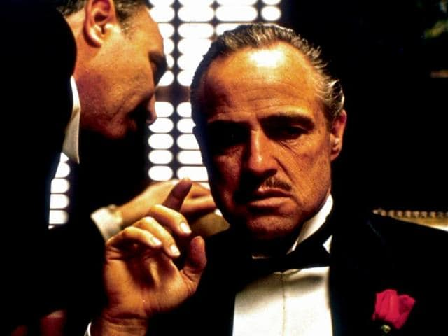 A still from Francis Ford Coppola's The Godfather.