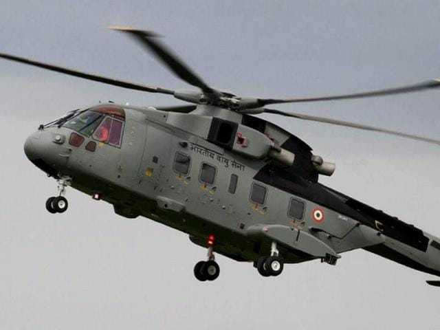 A file photo of AgustaWestland (AW101) VVIP Airforce Helicopter.