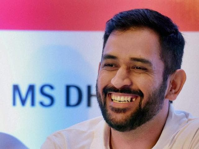 Cricketer MS Dhoni interacts with media during the announcement of Lava brand ambassador in Mumbai on Sunday.