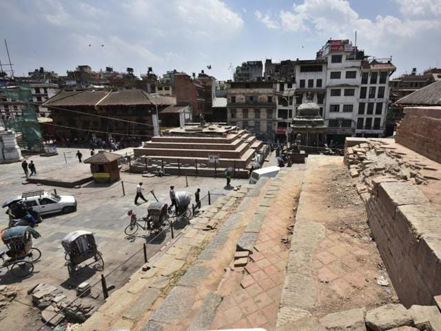 (Representative image) The Darbar Square in Kathmandu, one year after the devastating earthquake struck Nepal..