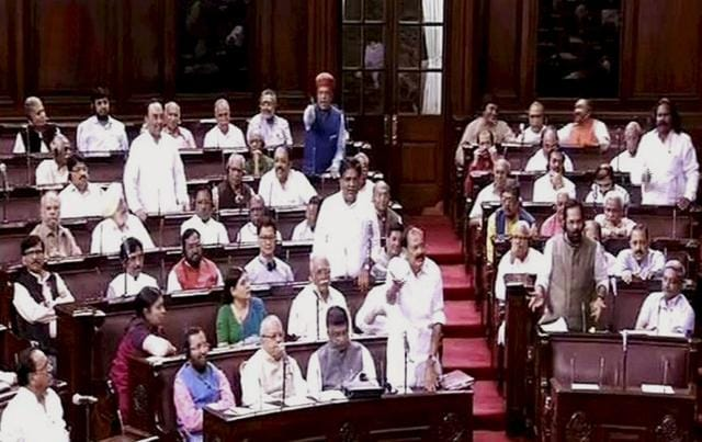 The Congress had on Monday stalled the Rajya Sabha proceedings, blaming the BJP for using AgustaWestland as an election issue.