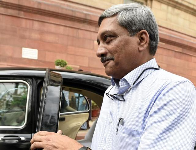 Defence Minister Manohar Parrikar during the Parliament session in New Delhi. ( Photo by Sonu Mehta/ Hindustan Times)