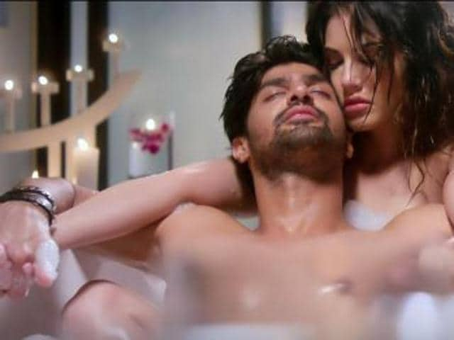 Sunny Leone and Tanuj Virwani in a still from One Night Stand. (YouTube)