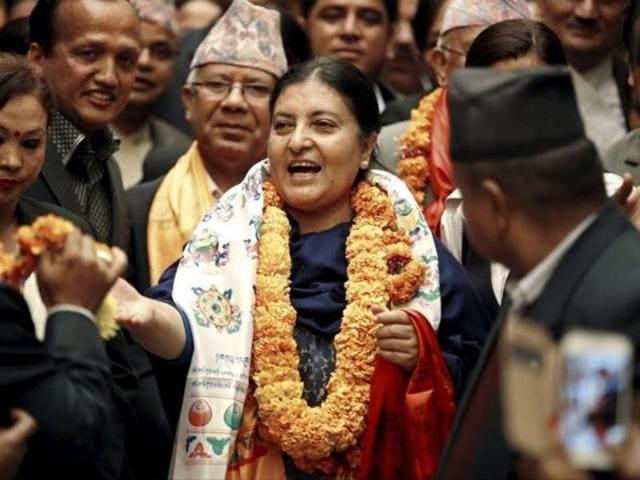 File photo of Nepal President Bidhya Devi Bhandari.