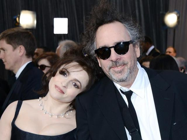 Helena Bonham Carter with Tim Burton. The two divorced earlier this year.