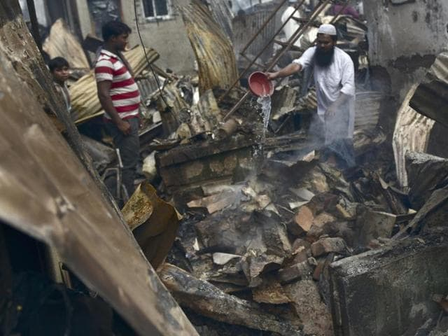 Officials said the fire broke out at 3.51am on Friday. While the cause of the fire is yet to be ascertained, officials suspect that a cylinder blast in one of the small shoe-making factories could have triggered the blast