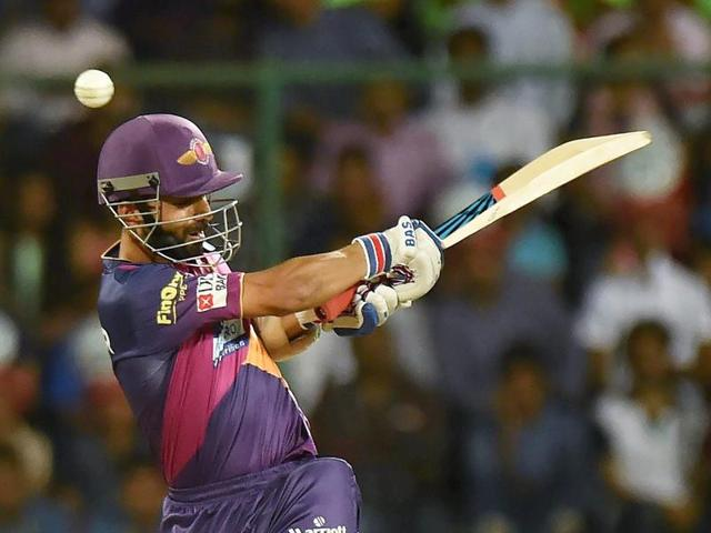 Ajinkya Rahane held firm to neatly anchor the chase, finishing on 63 not out as the visiting side sealed the game by seven wickets in the final over