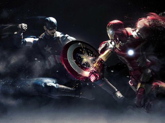 As super-heroes Captain America and Iron Man face off in this installment, Thor and The Hulk's absence is sorely felt.
