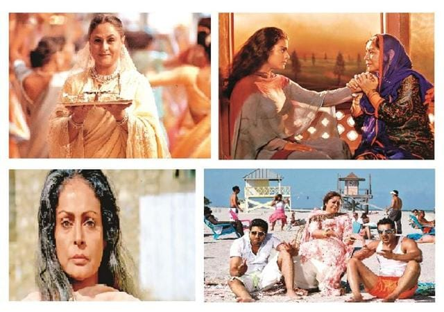 Clockwise from left: Jaya Bachchan, the clairvoyant mom in K3G; Farida Jalal asking Kajol to elope in DDLJ; Rakhee waits for her Karan Arjun and the hysterical Kirron Kher in Dostana