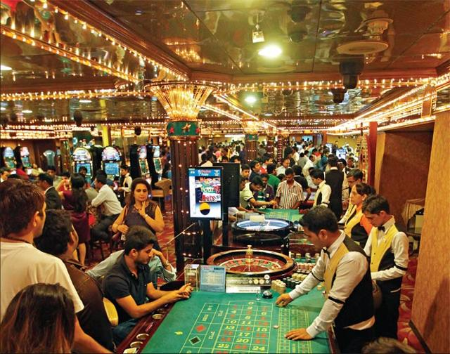 After the rules come into force, only non-Goans will be allowed in casinos. HT photo