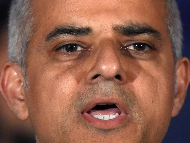 Sadiq Khan, Britain's Labour Party candidate for Mayor of London, speaks following his victory in the London mayoral election at City Hall in London, Britain.
