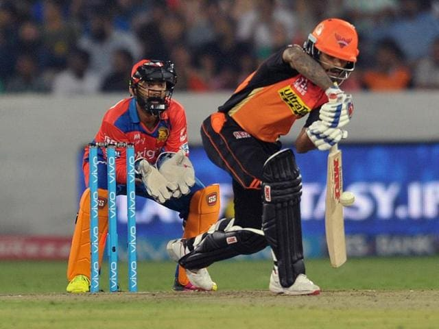 The hosts collected their sixth win with a five-wicket verdict, as Shikhar Dhawan scored a crucial 47.