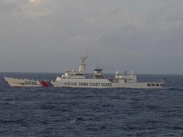 (Representative image)A China Coast Guard vessel sails in the East China Sea near Diaoyu islands in China. A collision between a fishing boat and a cargo ship in the East China Sea has left 17 missing and two dead..