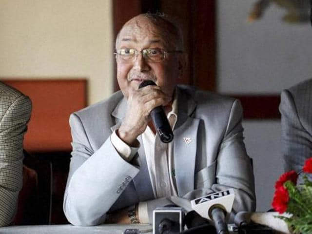 Nepal's Prime Minister Khadga Prasad Oli just survived a power tussle after coalition partner the Maoists planned to walk out of the alliance with the support of the Nepali Congress. Nepal's ambassador to India, Deep Kumar Upadhyay was also recalled.(AP Photo)