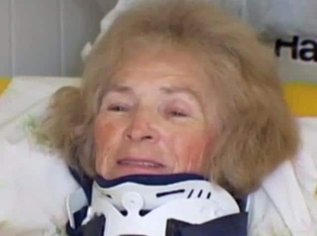 A video grab showing Mary Ann Franco in a hospital.