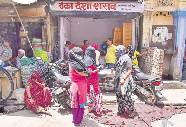 After the initial success, the Gulab Team forced the closure of four shops on Vikas Path