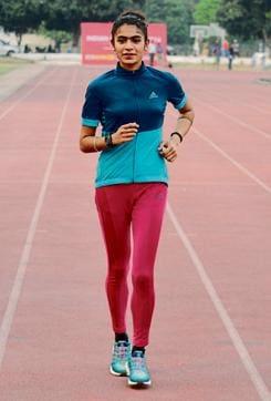 Punjabi University athlete Harmilan Kaur Bains.