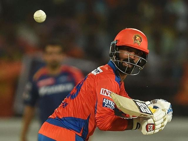 Karthik's well-compiled fifty, which, supported by a cameo from Aaron Finch, ensured Gujarat Lions won the match with two overs to spare.