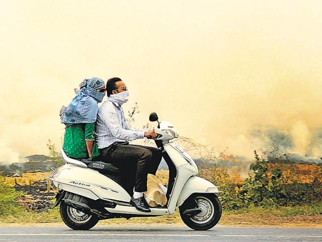 Fields in flames means commuters at risk.
