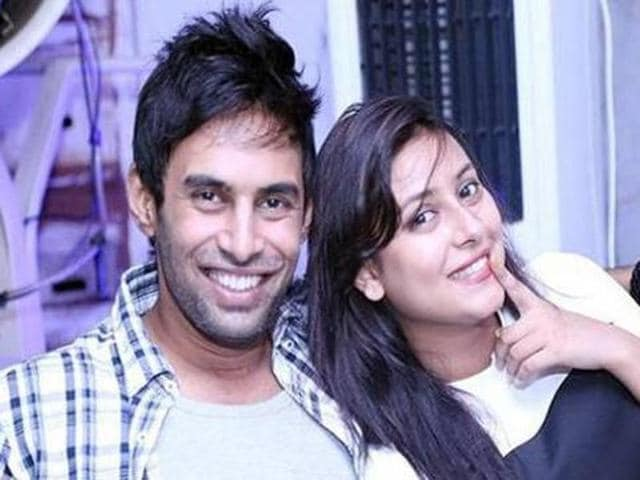 Rahul Raj Singh with Pratyusha Banerjee. The TV actor committed suicide on April 1.