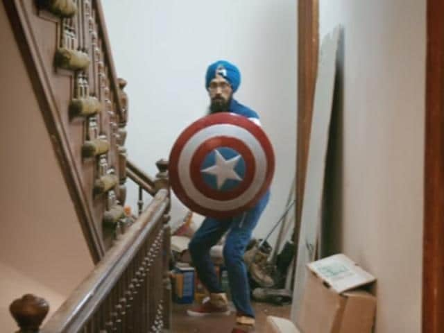Singh, who is a political cartoonist, on occasions transforms into 'Sikh Captain America', a costumed soldier with a turban who fights bigotry and champions cultural understanding through public appearances and talks.