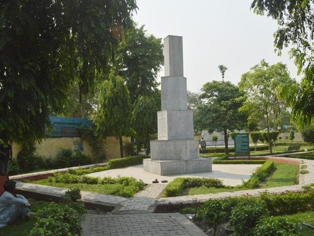 Names of soldiers martyred in the Indo-China and Indo-Pak wars are inscribed on marble structures in the park.