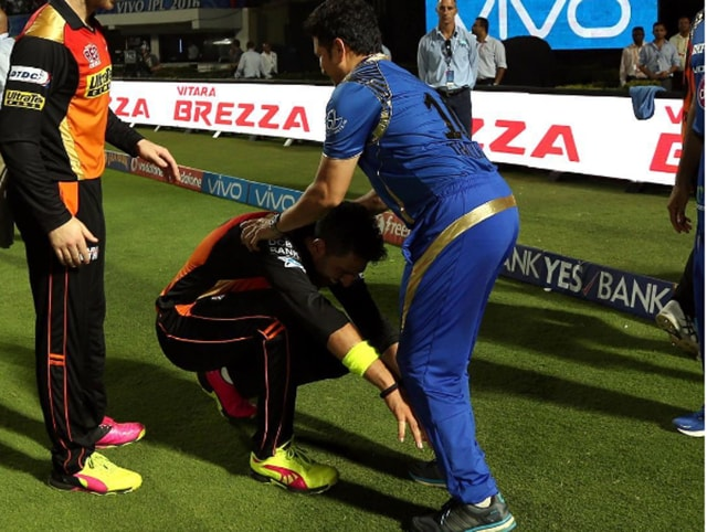 Yuvraj had just completed his hundredth IPL innings when he touched his icon's feet as a mark of respect