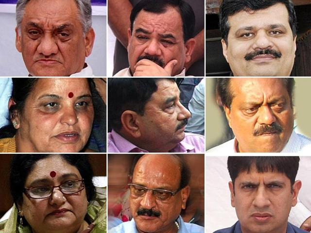 A combination picture of nine Congress rebel MLAs of Uttarakhand.