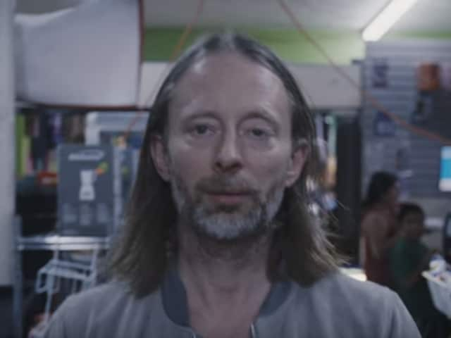 Lead singer Thom Yorke in a still from the Daydreaming video.