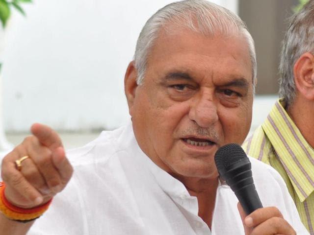 Former Haryana chief minister Bhupinder Singh Hooda