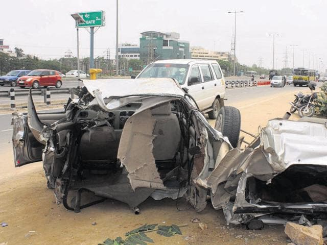 The number of accidents on the Delhi-Gurgaon Expressway has declined, but the figure still remains high with 628 accidents in 2015.