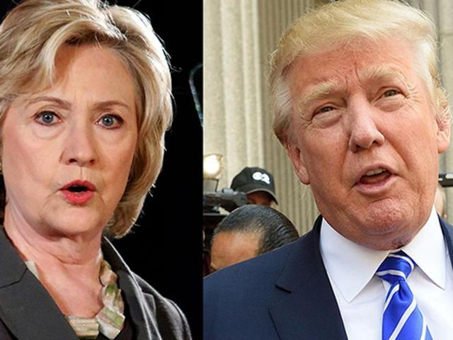 A combination photograph of US presidential election frontrunners Hilary Clinton and Donald Trump (Agencies)