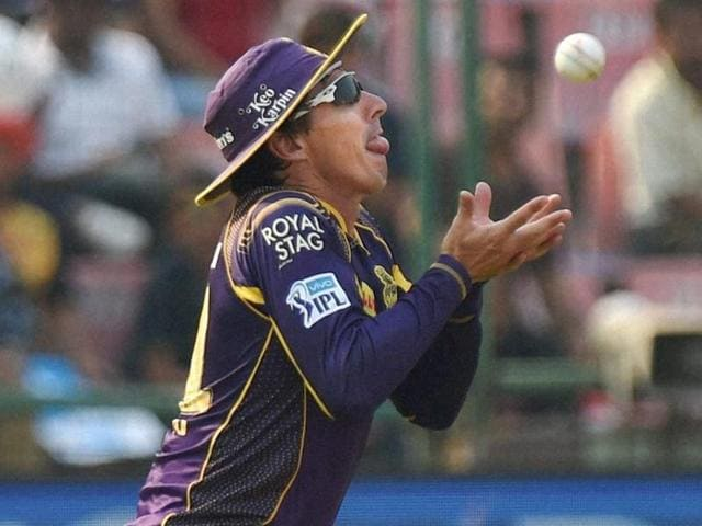 Brad Hogg was reprimanded for using inappropriate language in Kolkata Knight Rider's game against Gujarat Lions.