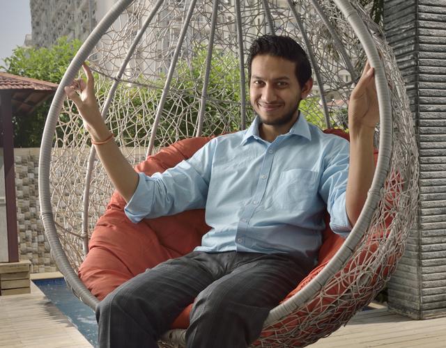 CEO and founder of OYO Rooms Ritesh Agarwal at a OYO property in Gurgaon.