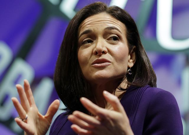 Facebook executive Sheryl Sandberg spoke publicly for the first time on Saturday about what she has learned from the sudden death of her husband a year ago.