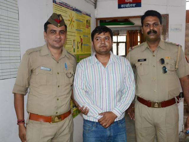 The 29-year-old was arrested by Ghaziabad Police for allegedly carrying the country-made weapon in his handbag.