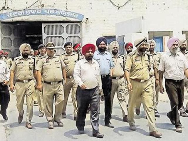 As many as 21 mobile phones, eight SIM cards, some adapters, 308 syringes and drug injections were seized from the Amritsar jail.
