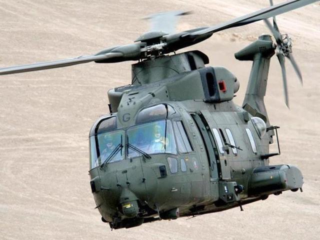 A photo of AgustaWestland AW101 chopper.