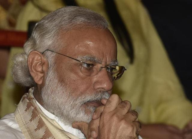 Prime Minister Narendra Modi on Monday reviewed the drought and water scarcity situation in parts of Gujarat at a high level meeting here.