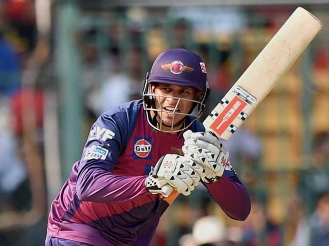 Rising Pune Supergiants batsman Usman Khawaja plays a shot during the IPL T20 match against Royal Challengers Bangalore in Bengaluru on Saturday.