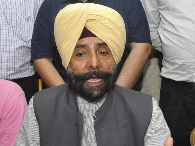 Former MP Jagmeet Singh Brar addressing a press conference in Ludhiana on Tuesday.