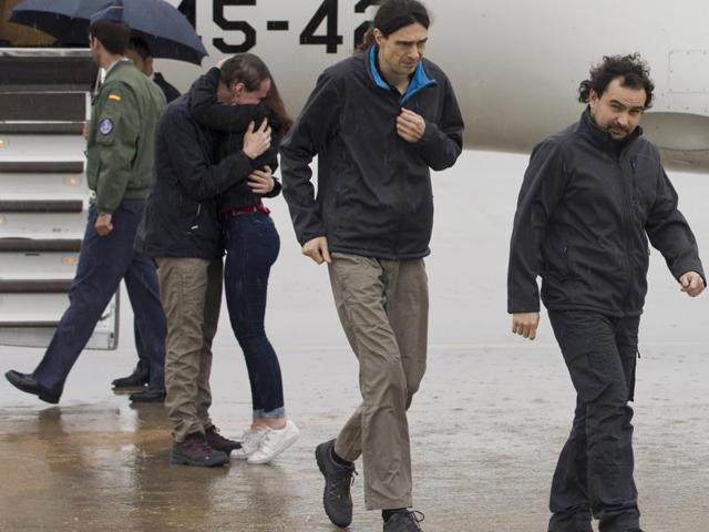 Freed Spanish journalists