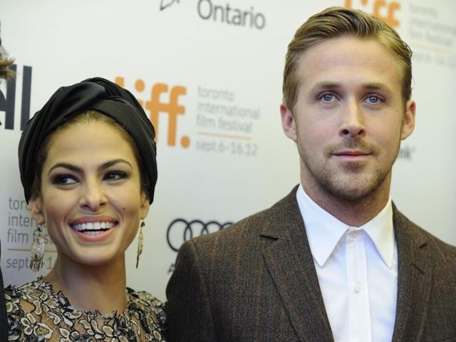 A file photo of Eva Mendes and Ryan Gosling. The couple welcomed second daughter, Amada, in April.