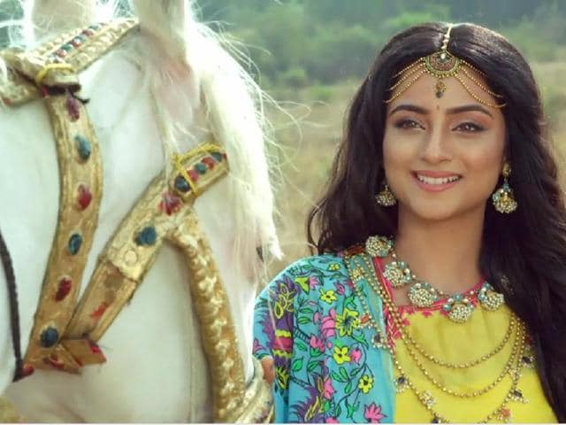 Madirakshi as Sita in Siya ke Ram. The actor fainted during shooting of the show.